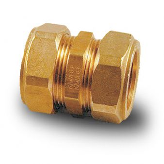 Brass Compression Plumbing Fittings - Straight Coupling 8mm - 28mm